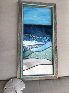 Stained Glass Ocean Tulum 1 by CambriaBella on Etsy #StainedGlassOcean