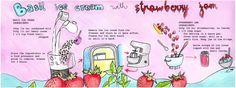 Basil Ice Cream with Strawberry Jam<span class='title_artist'> by Talita Takeda</span>