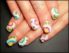 flower by JelenaF - Nail Art Gallery nailartgallery.nailsmag.com by Nails Magazine www.nailsmag.com #nailart
