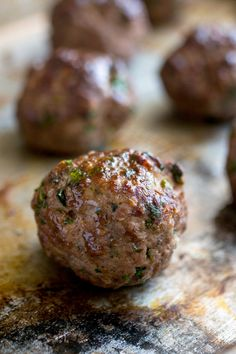 NYT Cooking: Making great meatballs is all about memorizing a basic ratio that you can adjust to suit your taste. Start with a pound of ground meat — any kind will work, even fish if you want to take it in that direction. Add 1/2 cup bread crumbs for lightness, a teaspoon of salt, and an egg to bind it together. That's all you need. Pepper and other spices, chopped herbs%...