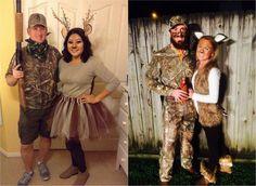 Hirsch und Jäger - Kostüm Idee für Paare