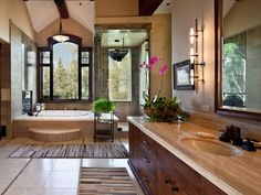 10 Bathrooms you wish you had. My pick: Natural Surroundings #Dream Home #Natural Surroundings #Bathrooms