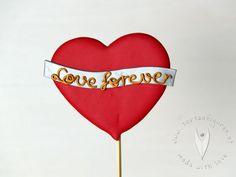 Love forever Topper Stick als Tortendeko oder als Deko für Cupcakes, Muffins oder für den Sweettable - Hochzeitstorte - Hochzeit - Hochzeitstortendeko - Hochzeitsidee Muffins, Cupcakes, Wedding Pie Table, Cupcake, Muffin, Cupcake Cakes, Cup Cakes, Tarts