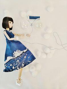 hand made cloth for kurhn doll原创,娃衣,晚安地球