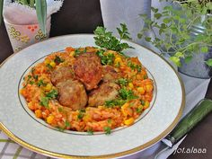 Ala piecze i gotuje: Ryż z warzywami i klopsikami