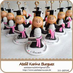 Formatura - Lembrancinhas 8cm | Ateliê Karina Burguez