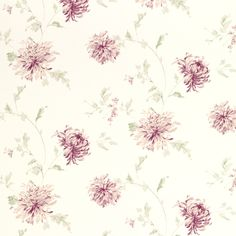 Ninette Berry Pink Floral Wallpaper at Laura Ashley Laura Ashley, Grape Wallpaper, Pink Wallpaper, Wallpaper Ideas, Lighted Wall Mirror, Feature Wallpaper, Wall Paper Phone, Textiles, Childrens Room Decor
