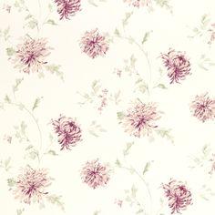 Ninette Berry Pink Floral Wallpaper