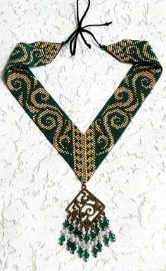 Beaded Necklace Patterns, Beaded Choker, Beaded Jewelry, Crochet Necklace, Bead Crochet Rope, Loom Bands, Tear, Loom Bracelets, Beading Tutorials