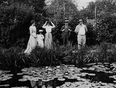 Paul Durand-Ruel: the 'madman' who saved Impressionism - Telegraph (Claude Monet (right) with PDR @ the famous water lily pond in Giverney (1900)