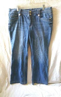 WHBM White House Black Market Boot Leg Size 12 Denim Jeans  #WhiteHouseBlackMarket #WHBM #WomensJeans
