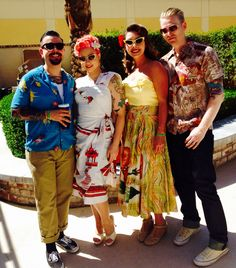 A lovely afternoon at the 2015 Viva Las Vegas pool party. #vlv18 #rockabilly #lucybvintageswimcontest