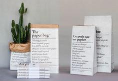 Sac en Papier Blanc Be-Poles chez Le RepèRe des BeleTtes