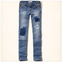 🆕 Hollister patch skinny jeans Blue patch skinny jeans. Size 5R. Brand new with tags. Hollister Jeans Skinny