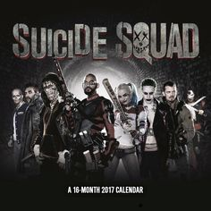 Suicide Squad 2017 Wall Calendar new for 2017 get a Suicide Squad Calendar (aff link)