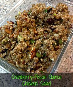 Cranberry Pecan Quinoa Chicken Salad - Clean Eating