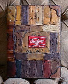 Custom Portfolio Cover Built From Old Baseball Gloves-Vvego #fashion #style #mlb #art #gifts #mensfashion #baseball #baseballcap #baseballmoms #edc Find Us On Instagram @vvegogear Or On Facebook https://www.facebook.com/Vvego.International/