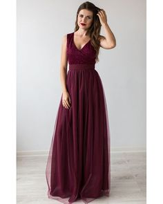 Formal Prom Dress Burgundy.Bridesmaid Dress Cocktail.Floor Length Beautiful Dress Tulle Tutu Skirt.Burgundy Evening Gown