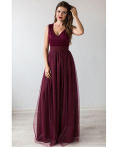 Formal Prom Dress Burgundy.Bridesmaid Dress Cocktail.Floor Length Beautiful Dress Tulle Tutu Skirt.Burgundy Evening Gown