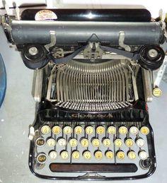 Antique Typewriter  c1917 Corona 3  folding typewriter in original case by FromDECOtoDISCO on Etsy