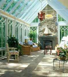 conservatories in gardens | fireplace in conservatory | The Garden Room Extension