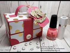 Ann's Happy Stampers: Beautiful Ladies style Vanity/Make-up Case using Stampin Up Products Beauty Box, Kosmetik Box, Box Photo, Stampin Up, Paper Purse, Envelope Punch Board, Craft Box, 3d Craft, China Glaze