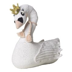 Handmade crochet large soft toy - Savannah Swan Quiet, graceful, Savannah Swan does not like to ruffle anybody's feathers. She is endearing and kind and is a...