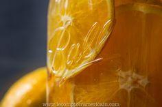 Orange detox water in a Mason Jar #Mason #Jar #Ball #shaker #cocktail #americanproduct #americanmade #madeinusa #lecomptoiramericain #orange #citron #lemon #detox #water
