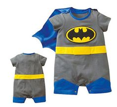 Every little boy needs a Batman cape. Now I need to find one for little WonderWoman