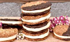 Chokladdoppade havreflarn med kaffesmörkräm   Hannas bageri