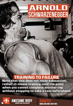 Training To Failure | Arnold Schwarzenegger Quote | Workout Motivation