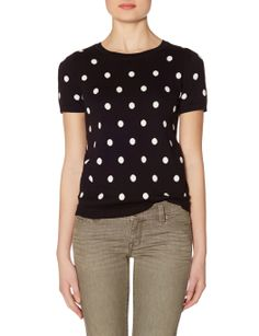 Polka Dot Sweater Tee | Women's Sweaters | THE LIMITED