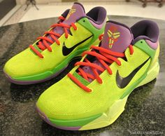 Nike Zoom Kobe VII 'Grinch' Customs By Jason Negron