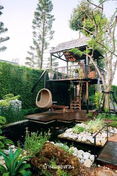 Dream Home Design, My Dream Home, House Design, Small Garden Landscape, Landscape Design, Backyard Patio, Backyard Landscaping, Casas Containers, Garden Cafe