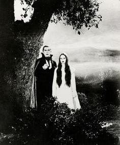 "Bela Lugosi and Carroll Borland in ""Mark of the Vampire"" (1935)"