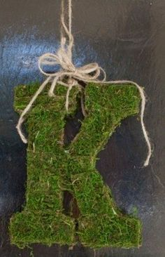 Moss Monogram with twine