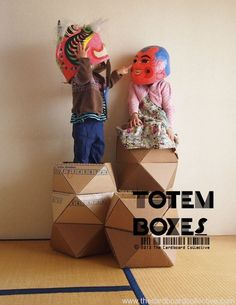Cardboard Totem Boxes: pattern and video tutorial https://www.etsy.com/listing/152961516/cardboard-totem-boxes-pattern-and-video?ref=shop_home_active