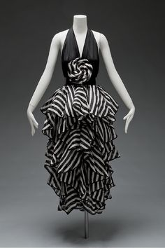 Evening gown by James Galanos, spring 1980. iChi-69380.