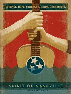 Spirit of Nashville Flood Relief Posters