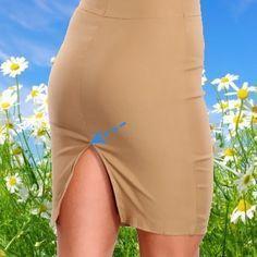 Что бы разрез на юбке или платье не рвался, просто укрепите его. Все делается просто и быстро.