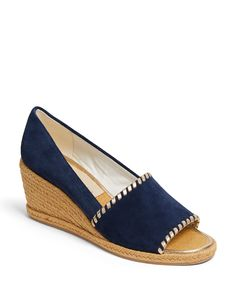 Jack Rogers Women's Palmer Wedge Heel Espadrille Sandals In Midnight Low Wedge Espadrilles, Espadrille Sandals, Wedge Sandals, Pump Shoes, Pumps, Jack Rogers Shoes, Bean Boots, Metallic Leather, Wedges