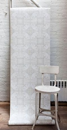 Nymph Wallpaper White Stone