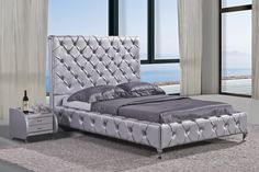 The silver home decor tones become the perfect wild card to remodel our house this winter. High Headboards, Tall Headboard, Tufted Bed, Ranch Style Decor, Headboard Designs, New Beds, Western Decor, King Beds, Rustic Furniture