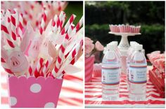 """Love these stripey straws for Molly's """"Olivia"""" birthday party!"""