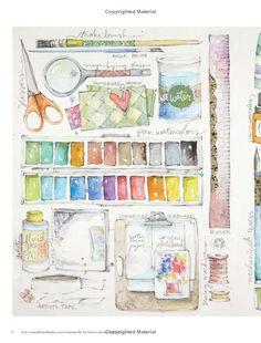 CreativeGirl: Mixed Media Techniques for an Artful Life: Danielle Donaldson - this is a lovely book! Watercolor Sketchbook, Art Sketchbook, Watercolor Illustration, Watercolor Paintings, Watercolors, Watercolor Pencils, Mixed Media Techniques, Art Techniques, Art Journal Inspiration