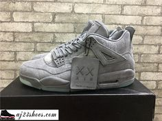 "a3704475de8dc7 ATHENTIC KAWS X Air Jordan 4 ""Cool Grey"" from aj23shoes.com Kik"