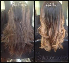 Blonde Golden Ombre, Before and After Ombre, Warm Ombre, Seamless Ombre, Balayage Ombre, Long Blonde Ombre