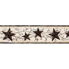 You'll love the Borders by Chesapeake George Tin Star Trail 15' x 27'' 3D Embossed Border Wallpaper at Wayfair - Great Deals on all Décor  products with Free Shipping on most stuff, even the big stuff.