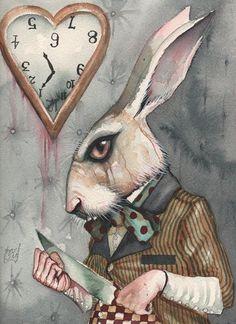 The white rabbit...