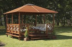 here are many options when it comes down to the styles of modern gazebo design and when you look at all the plans, individual or general, you're going to come across in style. A modern gazebo design offers a pleasant degree of shade. Outdoor Gazebos, Backyard Gazebo, Garden Gazebo, Outdoor Rooms, Outdoor Living, Outdoor Structures, Gazebo Canopy, Arbors, Modern Gazebo